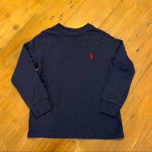 ⭐️Polo Ralph Lauren navy long sleeve top 4T